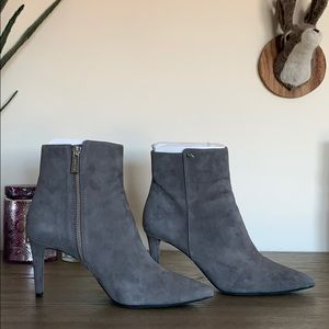 Michael Kors Gray London Pointy Toe Ankle Boots 8